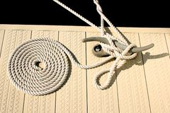 White nautical rope Stock Images