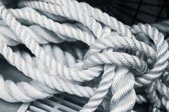 White nautical rope bundle, close up Royalty Free Stock Image