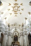 White nave of a church in Ragusa in Sicily Stock Image