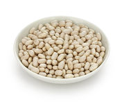 White navy bean. In a small dish Royalty Free Stock Photography