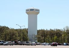 White Navy Communications Tower Stock Photos