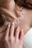 White necklace bride Stock Images