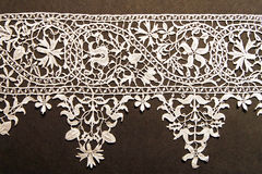 White needlework. Unique hand made precision needlework clothing accessories Stock Photography