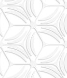White net and banana shapes seamless pattern Royalty Free Stock Images