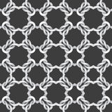 White net on black background. seamless pattern Royalty Free Stock Photos