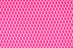 White net on pink fabric texture Stock Photography