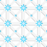 White net and snowflakes with shadow tile ornament. Abstract seamless background. White net and snowflakes with shadow tile ornament Stock Image