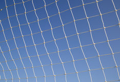 White net on soccer door frame Stock Photos