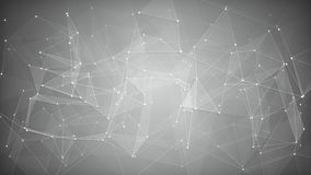 White network shape. Abstract background. White sci-fi network shape. Abstract futuristic technology background. Computer generated raster illustration Royalty Free Stock Image