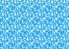White neural network on blue, abstract background a4 size Stock Photos