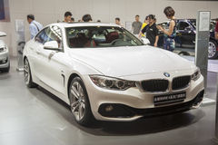 White new bmw4 Coupe car Stock Images