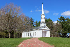 White New England Chapel Royalty Free Stock Image