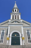 White New england church Royalty Free Stock Images