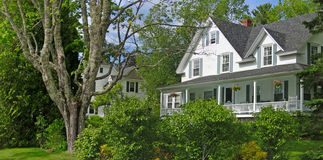 White New England house Stock Photography