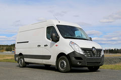 White New Renault Master Van Royalty Free Stock Photography