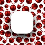 New Year background with red balls. White New Year background with red Christmas balls. Vector illustration royalty free illustration