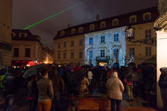 White Night - contemporary art festival in Bratislava, Slovakia, Royalty Free Stock Image