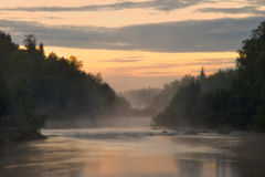 White Night on the River Pana. Kola Peninsula. Pan Stock Photos