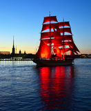 White night of St.Petersburg, Russia. Holiday Scarlet sails in St.Petersburg, Russia Royalty Free Stock Image
