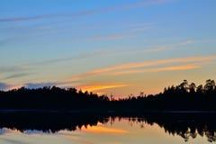 White nights. Northern Karelia, Russia Stock Image