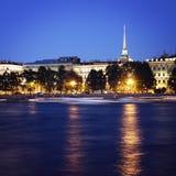 White Nights. Saint Petersburg. Admiralty building Royalty Free Stock Image
