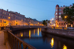 White nights in St. Petersburg, Russia Royalty Free Stock Image