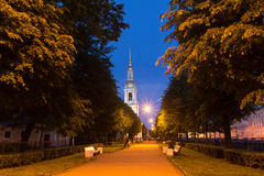 White nights in St. Petersburg, Russia Royalty Free Stock Images