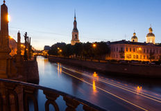White nights in St. Petersburg, Russia Stock Image