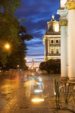 White Nights in St Petersburg. State Hermitage Royalty Free Stock Image
