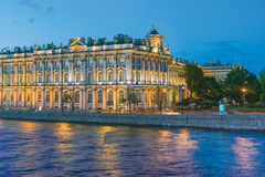 The White Nights in St,Petersburg. The Winter Palace (the State Hermitage Museum). The White Nights in St.Petersburg, Russia Royalty Free Stock Photography