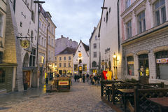 White nights in Tallinn Royalty Free Stock Image
