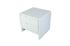 White nightstand Stock Images