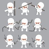 White ninja cartoon character Stock Photos