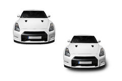 White Nissan GT-R Royalty Free Stock Photography
