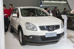 White nissan qashqai car Royalty Free Stock Photography
