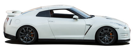 White Nissan Skyline GTR on a transparent background Royalty Free Stock Photo