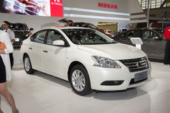 White nissan sylphy car Royalty Free Stock Photo