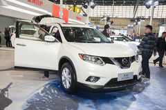 White nissan x-trail car opened door Stock Images