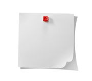 White note. Isolated on white background royalty free stock photography