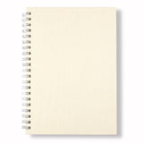 White Note Book. Isolate On White Background Stock Photos