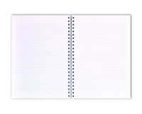 White note book. Note book on white isolated royalty free stock photos