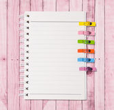 White Note Book Blank Page Royalty Free Stock Image