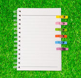 White Note Book Blank Page on Wood Table Royalty Free Stock Photos