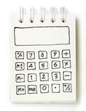 White note book drawing as a calculator Royalty Free Stock Photography