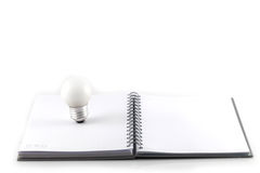 White note book Stock Image