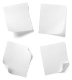 White note paper Royalty Free Stock Images