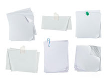 White note paper Royalty Free Stock Photo