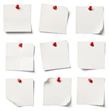 White note paper Stock Image