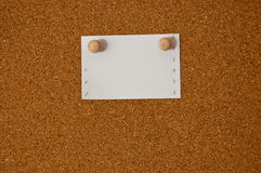 White note paper on cork board Stock Photography