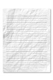White note paper on white background. Stock Image